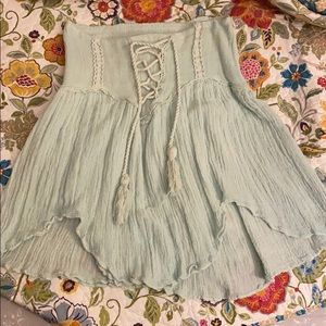 Jens pirate booty castaway mint lace-up skirt